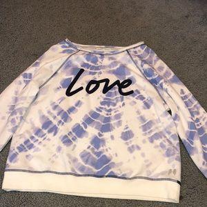 VS blue tie dye sweatshirt